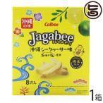 ジャガビー 沖縄シークヮーサー味 18g×8袋入×1箱 カルビー 沖縄 人気 土産 菓子 石垣の塩使用 個包装 ばらまき土産に 送料無料