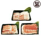やんばる島豚あぐー 黒豚 しゃぶしゃぶセット(背ロース・バラ(三枚肉)・モモ各1kg)  条件付き送料無料 沖縄 土産 アグー 貴重 肉