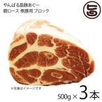 やんばる島豚あぐー ≪黒豚≫ 肩ロース 煮豚用 ブロック 500g×3本 送料無料 沖縄 土産 アグー 貴重 肉