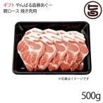 ギフト やんばる島豚あぐー 黒豚 肩ロース 焼き肉用 500g フレッシュミートがなは 沖縄 土産 アグー 貴重 肉  条件付き送料無料