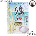浜比嘉塩仕込み 島らっきょう(酢漬) 60gx6箱 沖縄 お土産 おつまみ 島野菜 人気  送料無料