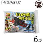 いか墨焼きそば 263g 2食入×6袋 沖縄そばの細麺にイカ墨を練りこみ 液体ソース ネギ 紅生姜付  送料無料