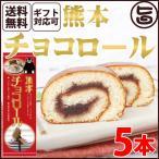 ギフト (大箱)熊本チョコロール 5本 条件付 熊本 九州 名物 お土産 和菓子 ケーキ 人気  条件付き送料無料