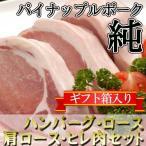 ギフト パイナップルポーク 純 特撰ギフト ハンバーグ・ロース・肩ロース・ヒレ肉セット ギフトBOX入り 条件付 沖縄 人気 高級 肉  条件付き送料無料