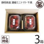 静岡県産 濃縮ミニトマト 千果 ちか 200g×2P×3箱 産直 お取り寄せ ギフト 贈り物  条件付き送料無料