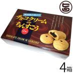 チョコクリーム in ちんすこう 12個×4箱 明輝 沖縄 土産 人気 菓子 チョコ入り ちんすこう 新しい食感 送料無料