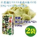 沖縄 海ぶどうせんべい 100g×2袋 送料無料 沖縄 お土産 珍しい