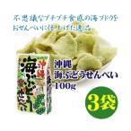 沖縄 海ぶどうせんべい 100g×3袋 送料無料 沖縄 土産 定番 人気