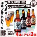 ギフト ビール サンゴビール 330ml 4種 グラス2個セット 送料無料 沖縄 人気 地ビール 沖縄産 お土産 お中元 お歳暮 贈り物 贅沢