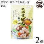 琉球すっぽんだし鍋スープ400g×2袋 スッポン すっぽん コラーゲン 沖縄県 だし スープ 鍋  送料無料