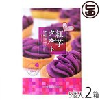 紅芋タルト小箱 5個入り ×2箱 沖縄 定番 人気 土産 お菓子  送料無料