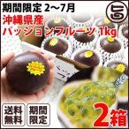 期間限定 2〜7月 元築地の目利きの達人が選ぶ 沖縄県産 パッションフルーツ 1kg×2箱 送料無料 南国フルーツ 果物