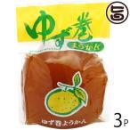 ゆず巻きようかん×3個 たけうち 熊本県 九州 復興支援 健康管理 和菓子 羊羹 丸ごと柚子  送料無料