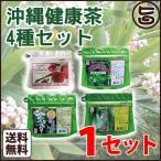 旨いもんハンター オリジナル 沖縄健康茶 4種(月桃茶・種入りゴーヤー茶・ノニの実茶・ハイビスカス&レモングラスティー)セット×1セット 送料無料