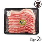 あぐー 豚バラ しゃぶしゃぶ 500g×2P JAおきなわ 沖縄 土産 豚肉 県産ブランド豚あぐー ご自宅用に 送料無料