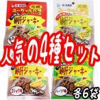砂肝 ジャーキー13g 4種×各6袋セット 沖縄 人気 土産 おつまみ 珍味  送料無料