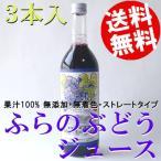 ショッピングお中元 高級ぶどうジュース ストレート 3本 北海道 720ml 無添加 無着色 国産 送料無料 贈答品 お取り寄せ