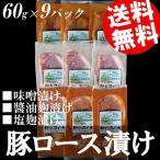 豚ロース 味噌漬け 塩麹漬け 醤油漬け 9枚セット 宮城県産 送料無料 贈答品 お取り寄せ