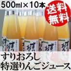 りんごジュース ストレート 10本 すりおろし 500ml瓶 黒内果樹園 岐阜県 国産 送料無料 贈答品 お取り寄せ