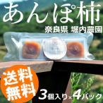 干し柿 3個×4パック 無添加 堀内農園 奈良県 あんぽ柿 国産 送料無料 おうち時間 お取り寄せ
