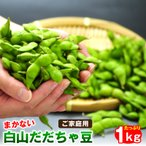 枝豆 白山だだちゃ豆 1kg  ご家庭用 まかない 山形県鶴岡市産 枝豆 えだまめ まめ、マメ 夏ギフト 送料無料