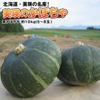かぼちゃ カボチャ 南瓜 北海道美瑛産 栗かぼちゃ約10kg(5〜8玉) 送料無料 北海道より直送 減農薬栽培