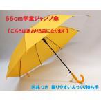 ぷっくり手元で握りやすい!学童用ジャンプ傘 黄色 名札付き 透明窓で視界良好♪