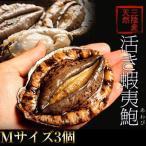 《送料無料》活・蝦夷アワビ(天然)計3個 Mサイズ(1個:140〜160g) ※冷蔵 ○