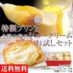 希少な蜂蜜プリン・山のお塩のシュークリームお試しセット(特製プリン3個+山塩のシュ-クリ-ム3個) ※送料無料/冷凍