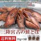 塩だけで熟成発酵 180日以上じっくり乾燥させた 三陸宮古の鮭とば / 送料無料 / ※冷蔵・35g×3袋 〇【同梱不可】