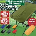 アウトドア チェア グリーン ツーリング 折りたたみ 椅子 軽量 アルミ製 コンパクト ソロ キャンプ 花見 運動会 いす 収納袋付 緑 保証付 ウミネコ