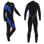 ショッピングウェットスーツ ウミネコ ウェットスーツ フルスーツ 3mm メンズ S M L XL ウエットスーツ ネオプレーン サーフィン ダイビング 男 マリンスポーツ 初心者 02 ブルー ブラック
