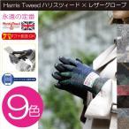 HarrisTweed ハリスツイード レディース 手袋 グローブ 15AWGL-001 羊革コンビ スマホ対応