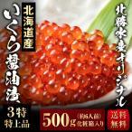 【I-1】北勝水産 いくら 醤油漬 500g (3特 特上品) 北勝水産オリジナル 北海道産完熟卵 送料無料
