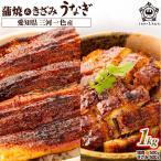 【HKZ-1000】うなぎ 蒲焼き 計1kg セット (蒲焼き500g&きざみうなぎ500g / タレ・山椒付き) メガ盛り 国産 うな丼 ひつまぶし お取り寄せ