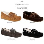 (SALE)EMU(エミュー)モカシン ムートン シープスキン レディース Amity W10555