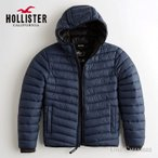 ホリスター メンズ ライトウェイト リサイクル フィル フード付パファージャケット Hollister Recycle Fill Hooded Puffer Jacket ワンポイントロゴ ネイビー