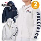 ホリスター メンズ アップリケロゴグラフィック フーディー ジップアップパーカー 刺繍 Hollister Logo Graphic Hoodie 2カラー