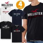 ホリスター メンズ アップリケ刺繍 ロゴグラフィック半袖Tシャツ Hollister Logo Graphic Tee 4色:ホワイト、ネイビー、ブラック×レッド、ブラック×ホワイト