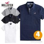 ホリスター メンズ ストレッチピケ半袖 ポロシャツ Hollister Strech Icon Polo ワンポイントロゴ ホワイト、ネイビー、ブラック、ヘザーグレー 4カラー