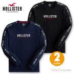 ホリスター メンズ 刺繍ロゴ ロゴテープ グラフィック長袖Tシャツ ロンT Hollister Logo Graphic Tee 2カラー ブラック ネイビー