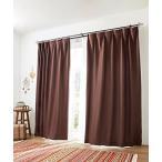 [nissen(ニッセン)] カーテン レースカーテン 4枚セット 遮光裏地付 ワッフル ブラウン 幅100×長さ230(228)cm
