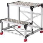 アルミ合金製作業台 縞鋼板 500X400X600 TSFC-256