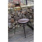 ガーデンチェア チェア 椅子 屋外 ガーデニング 庭 アイアンチークチェア 66058(代引不可)