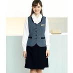 事務服 ラップキュロット 黒 50cm丈 en joie(アンジョア)71415