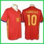 2016サッカーユニフォーム/スペイン代表ホーム/セスク・ファブレガス/FABREGAS/背番号10/ノンブランドユニフォーム/大人用(M、フリー)