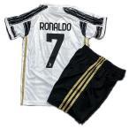 ユヴェントスホーム/クリスティアーノ・ロナウド/RONALDO/背番号7/子供用/2021サッカーユニフォーム/ノンブランドレプリカユニフォーム