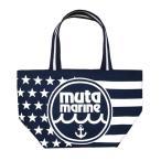 muta MARINE ムータ マリン レディース キャンバス トートバッグ MM USエコバッグ (MMRG-211002) ロゴプリント ネイビー[正規品]