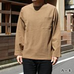 ロンT メンズ 7オンス Goodwear USAコットン ポケット Tシャツ 長袖
