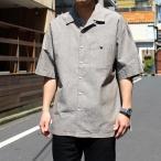 シャツ メンズ Goodwear オープンカラー シャンブレー 半袖